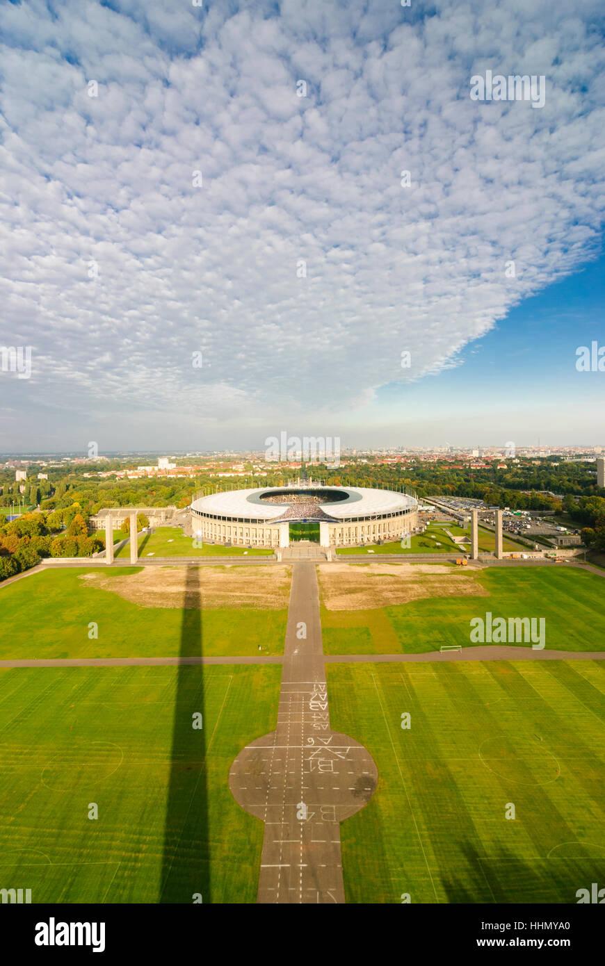 Berlin: Olympiastadion (Olympic Stadium), , Berlin, Germany - Stock Image