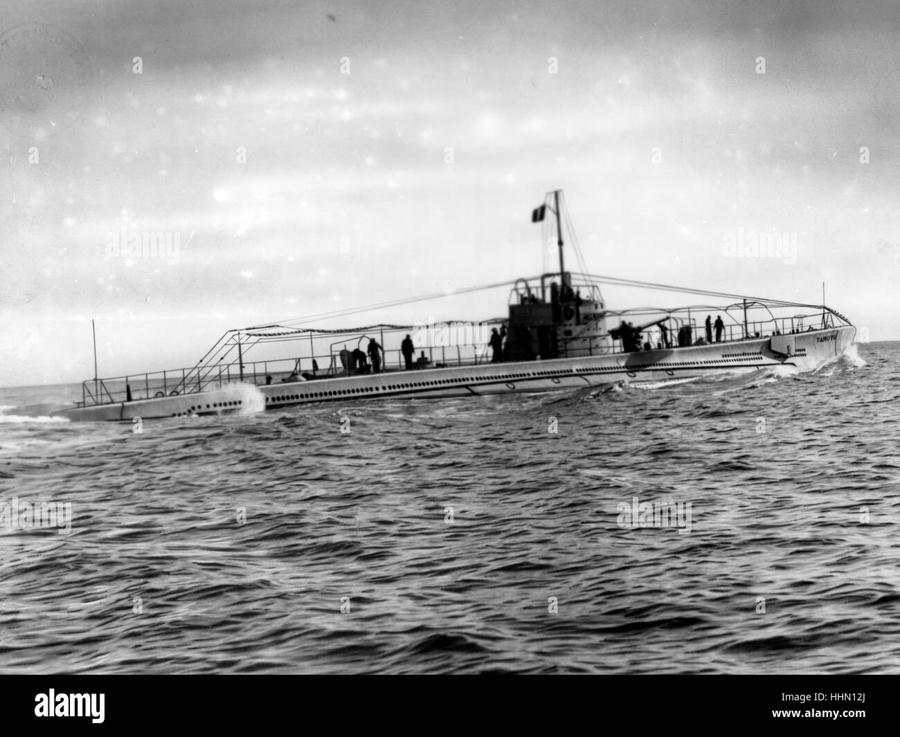 Second World War / WWII, naval warfare, italian submarine - Stock Image