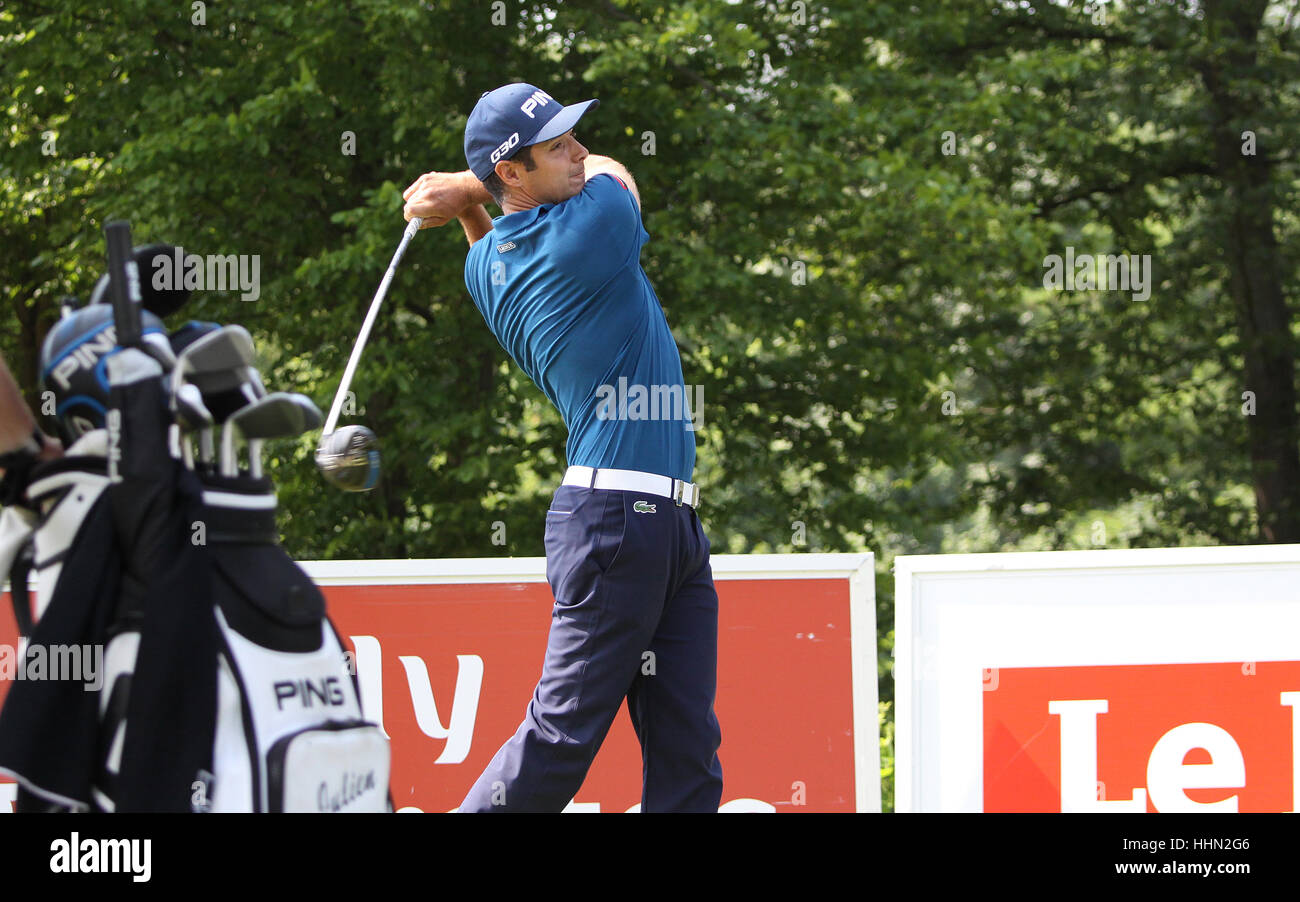 GUYANCOURT, FRANCE, JULY 02, 2015 : Julien Quesne (FRA) at  the golf French Open , European Tour, july 02, 2015, - Stock Image