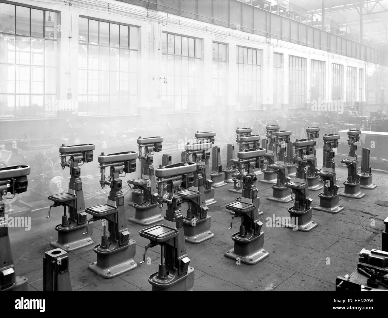 1930 - 40. Fiat - Ansaldo big motors Factory in Genua, San Pier d'Arena, sanpierdarena. - Stock Image