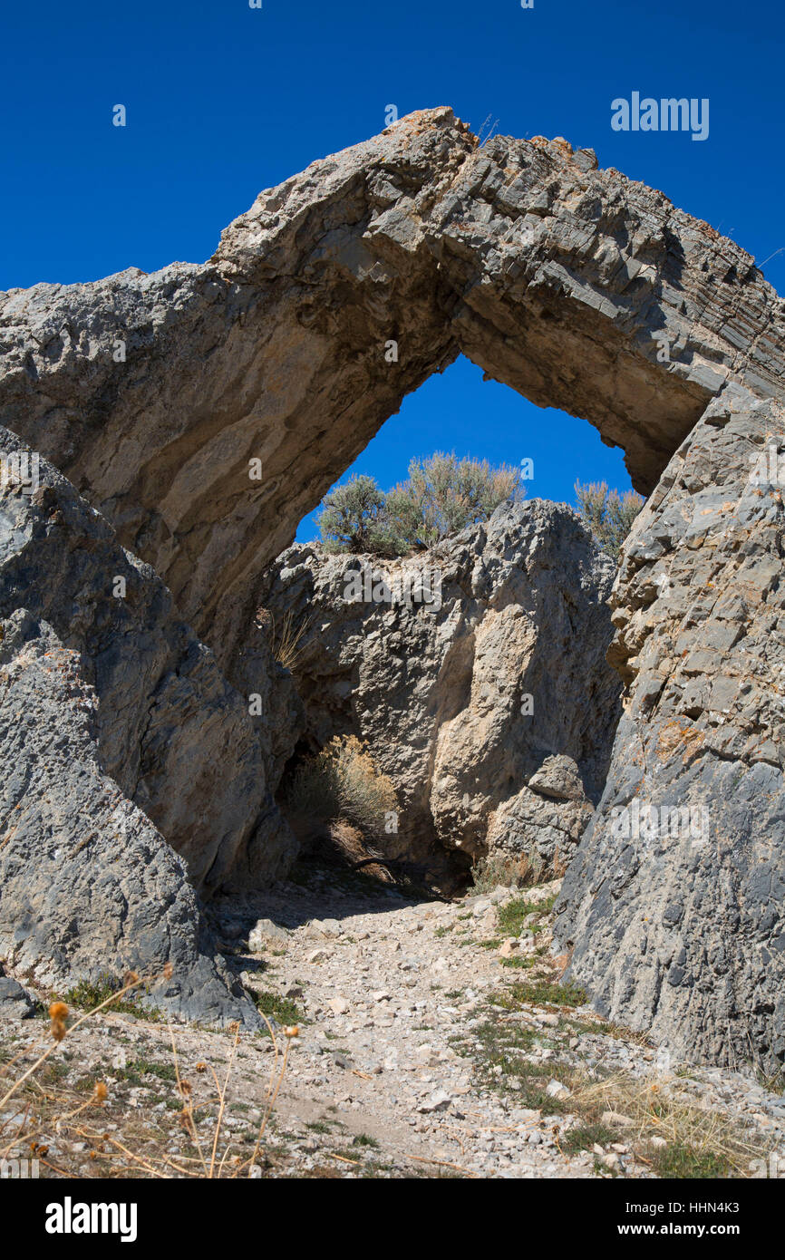 Chinese Arch, Golden Spike National Historic Site, Box Elder County, Utah - Stock Image
