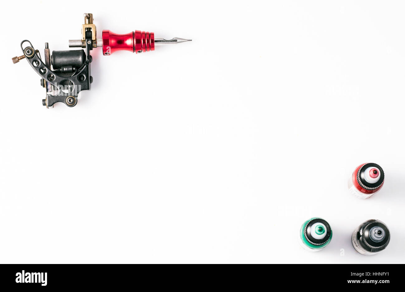 Tattoo Machine On White Background Copy Space Stock Photo Machines Diagram Pictures