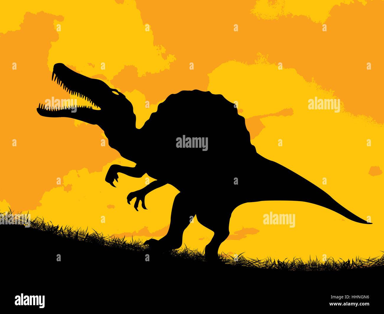 reptile, panic, predator, tooth, prehistory, prehistoric, white, close, big, - Stock Image
