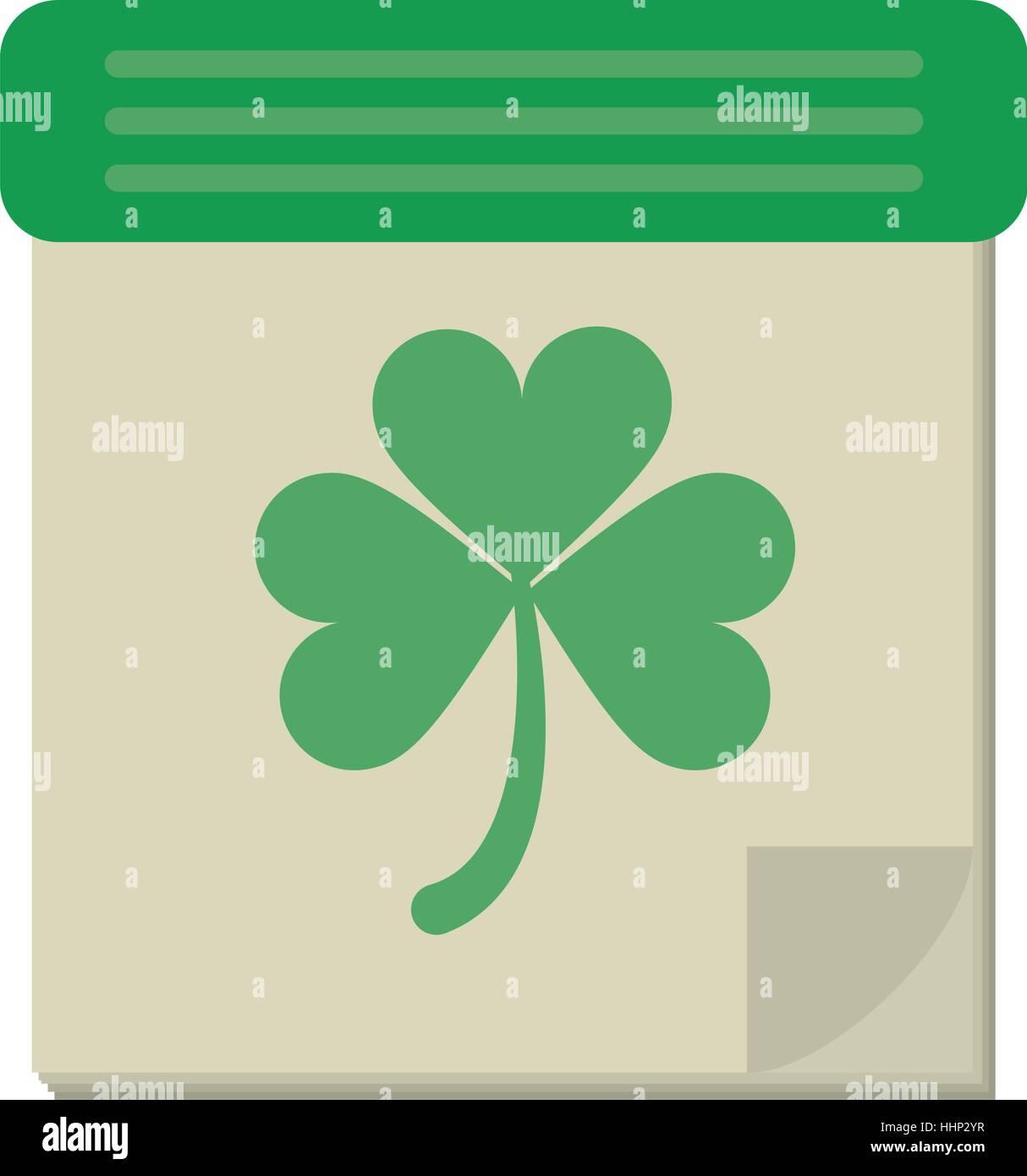 calendar clover st patrick day irish culture - Stock Image