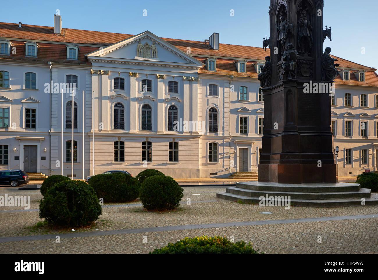 university Greifswald sight - Stock Image