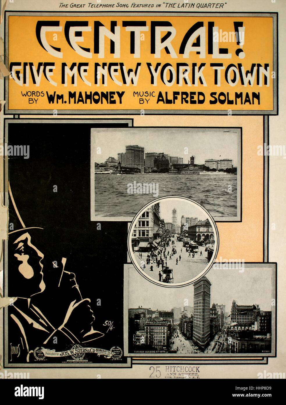 Sheet music cover image of the song 'Central! Give Me New