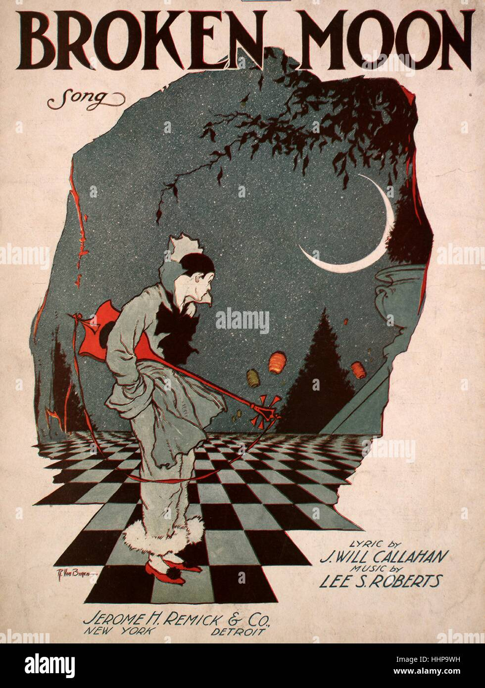 Sheet music cover image of the song Broken Moon Song