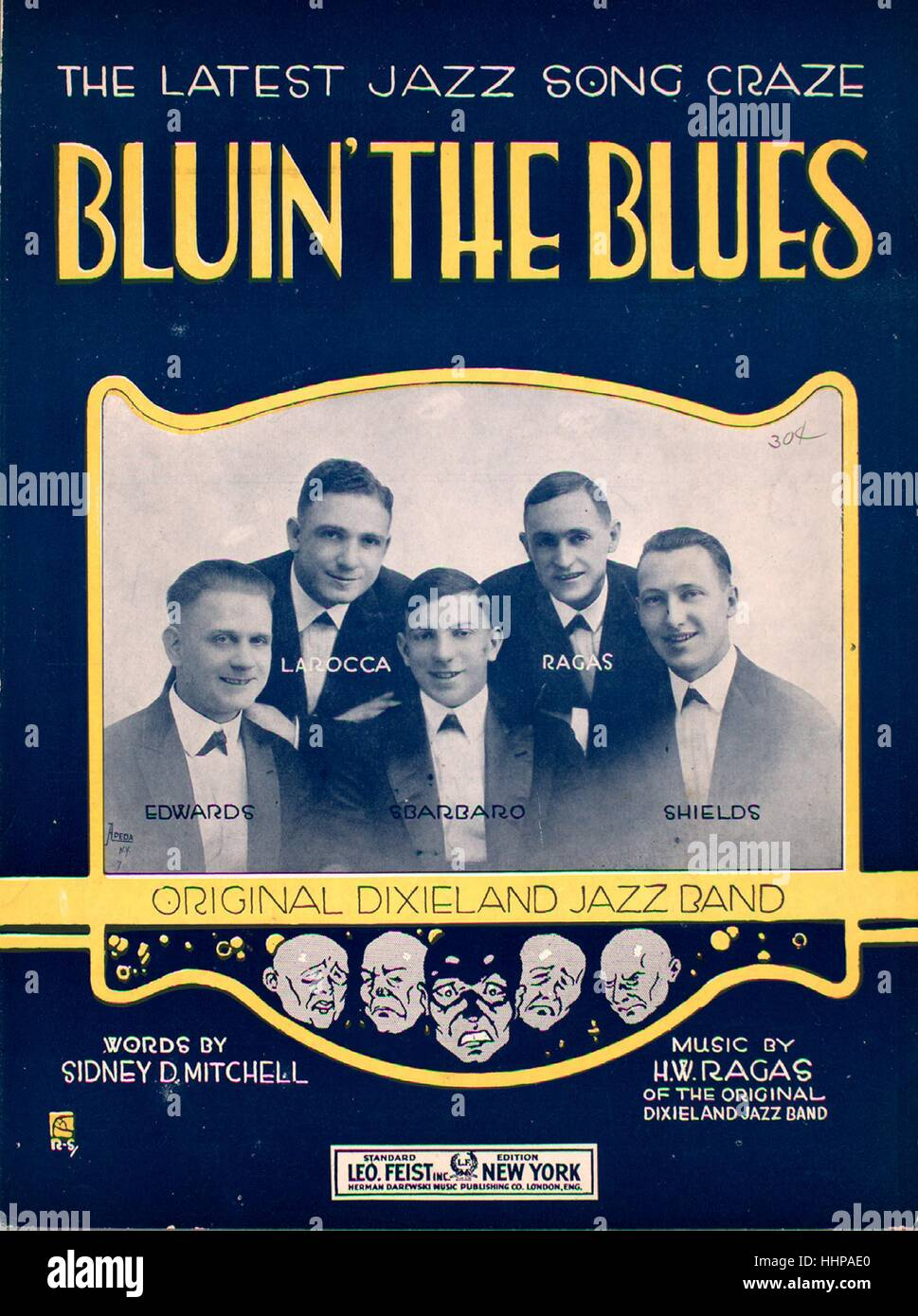 Sheet music cover image of the song 'Bluin' the Blues The