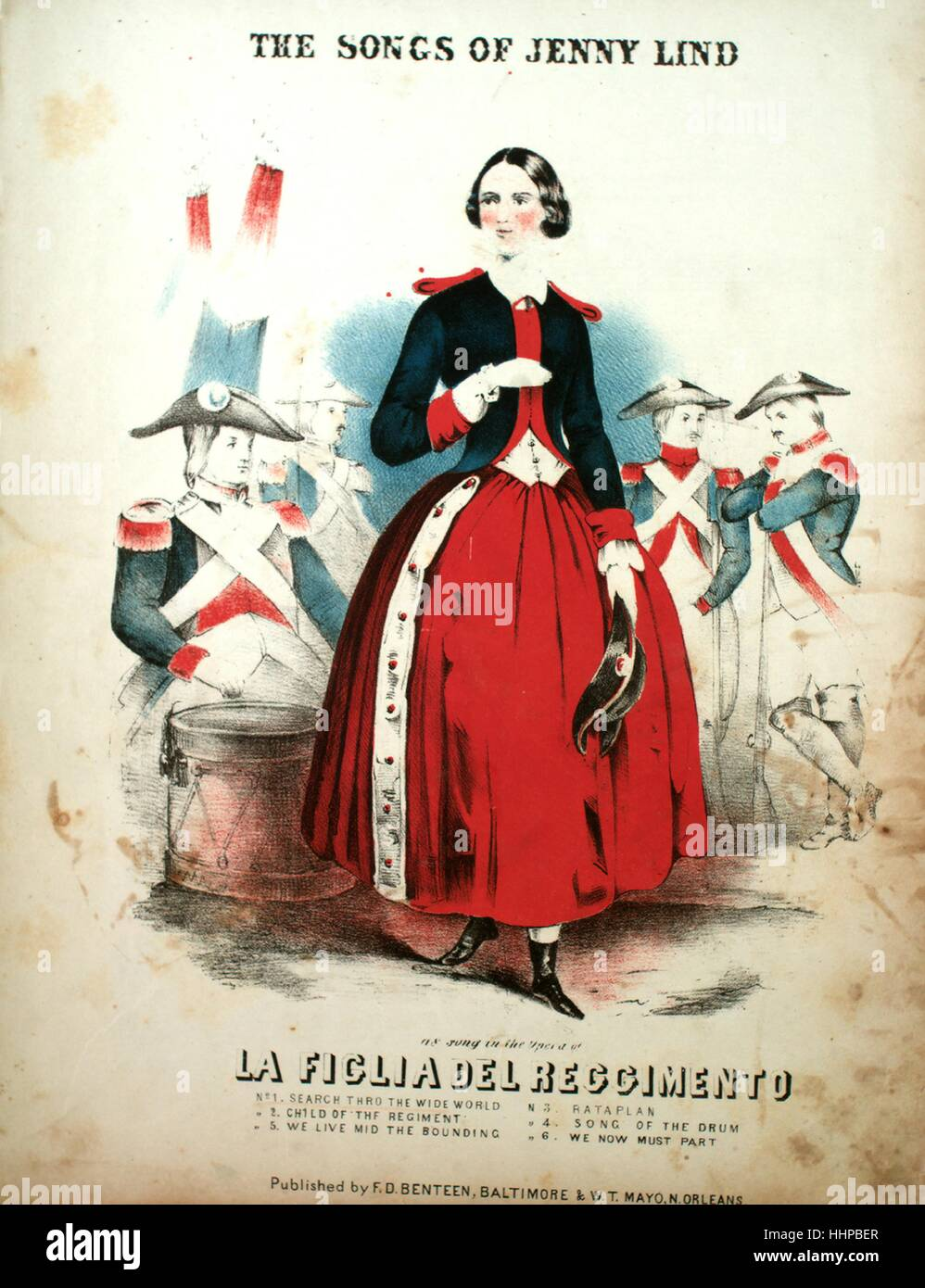 Sheet music cover image of the song  The Songs of Jenny Lind No 1 Search a3fe2b0a388