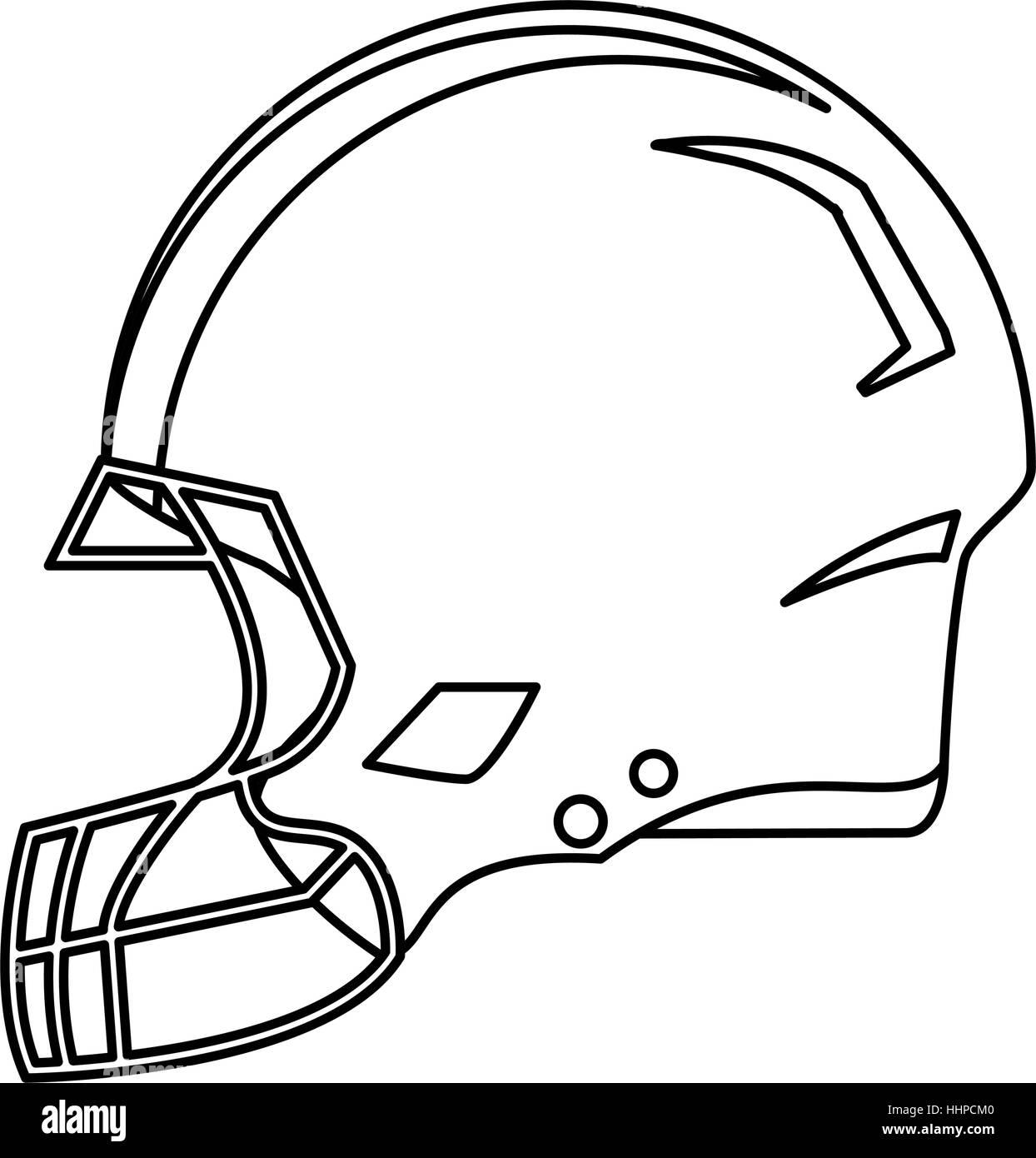american football helmet protection outline stock vector art rh alamy com