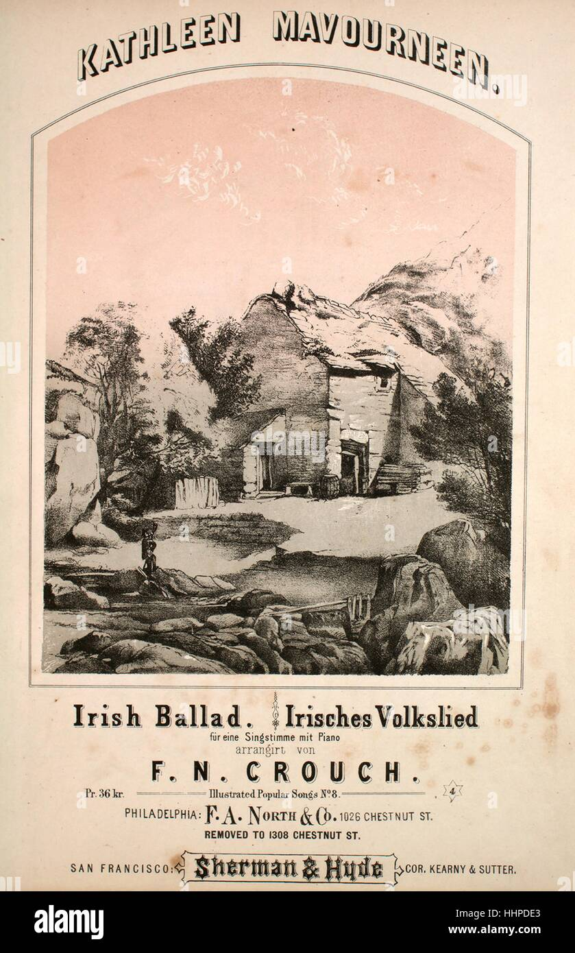 Sheet music cover image of the song 'Kathleen Mavourneen