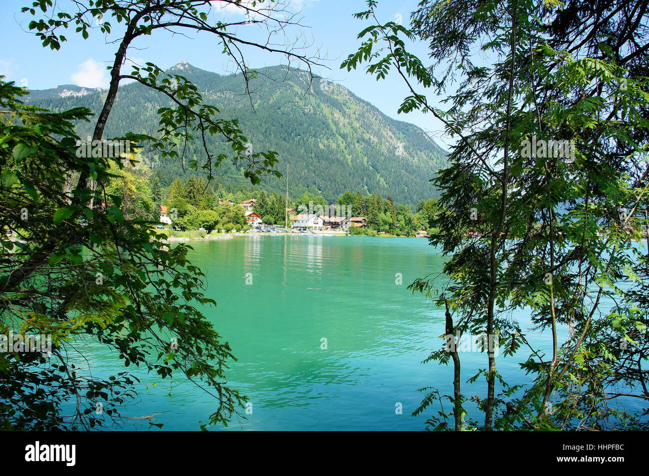 house, building, houses, mountains, waters, alps, bavaria, places, place, Stock Photo