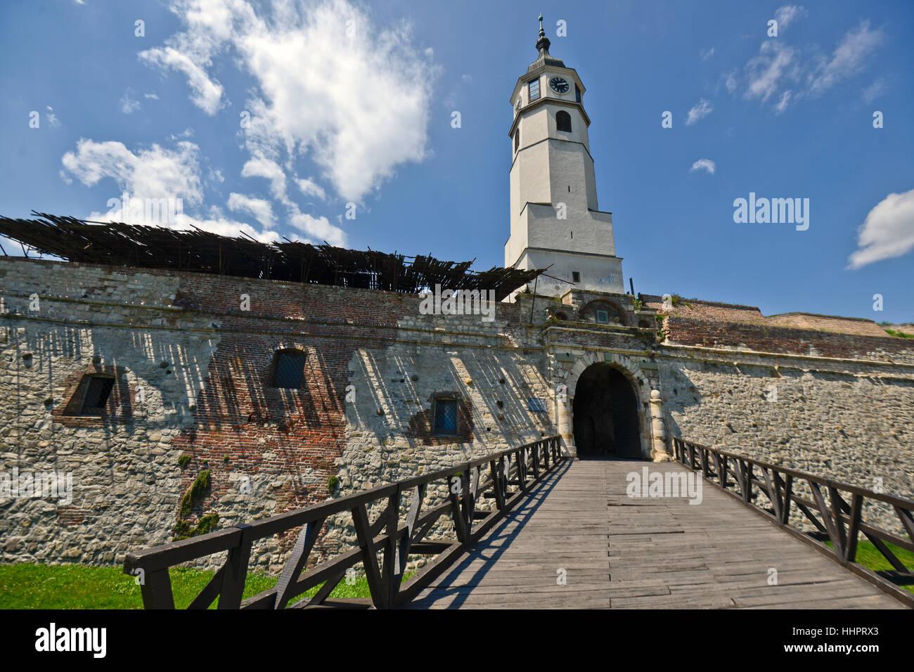Belgrade Fortress, Kalemegdan, Belgrade, Serbia. Lateral entrance - Stock Image