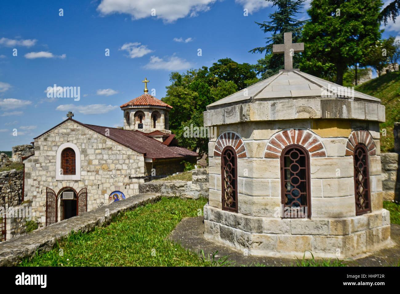 Belgrade Fortress, Kalemegdan, Serbia. Monastery and church - Stock Image
