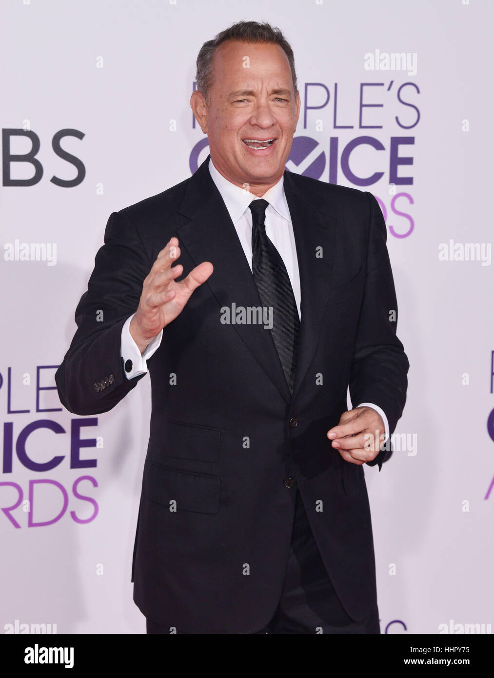 Tom Hanks 210 arriving at the People's Choice Awards 2017 at the Microsoft Theatre in Los Angeles. January 18, - Stock Image