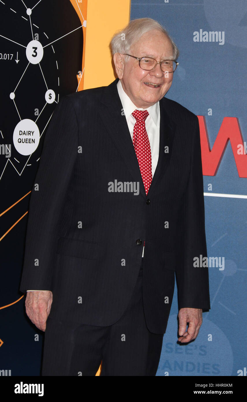 New York, USA. 19th Jan, 2017. Businessman Warren Buffett attends the world premiere of the HBO film 'Becoming Warren Stock Photo