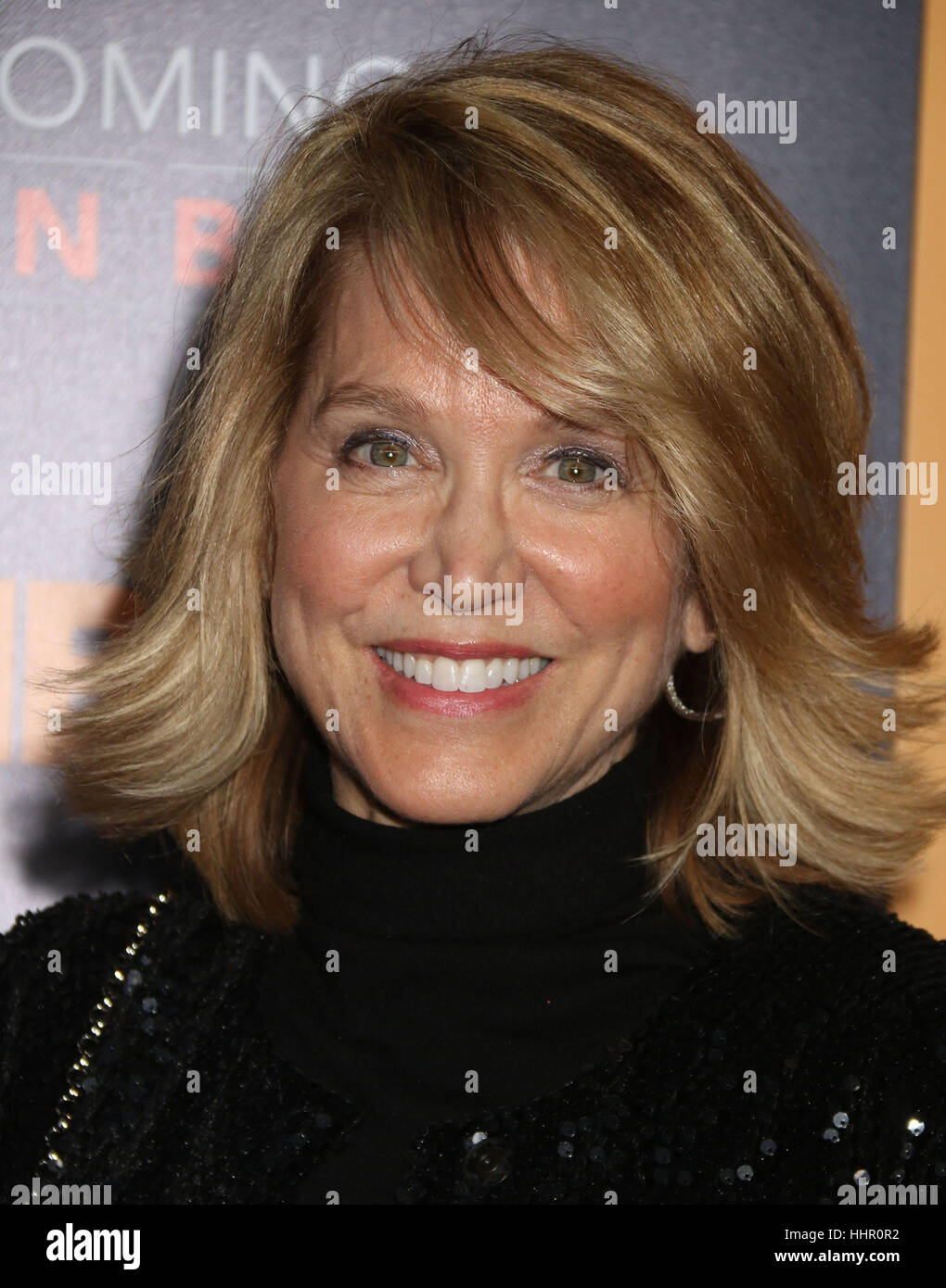 New York, USA. 19th Jan, 2017. Paula Zahn attends the world premiere of the HBO film 'Becoming Warren Buffett' held Stock Photo