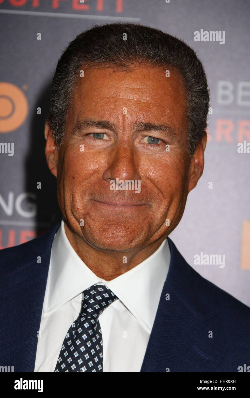 New York, USA. 19th Jan, 2017. CEO of HBO Richard Plepler attends the world premiere of the HBO film 'Becoming - Stock Image