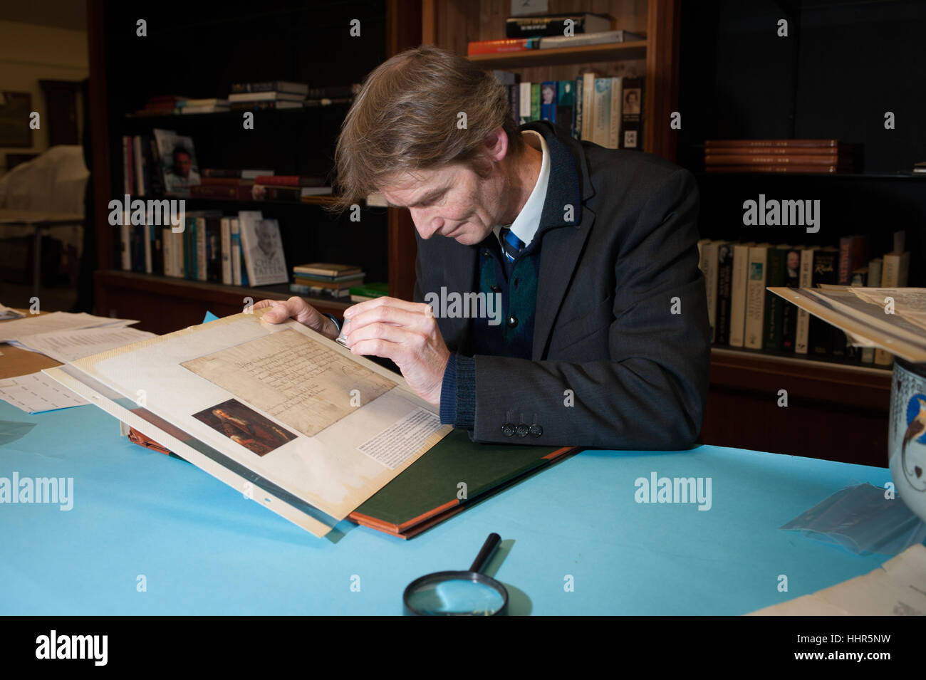 Worthing, West Sussex, UK. 20th Jan, 2017. A collection of more than 1,000 signatures from iconic historical figures - Stock Image