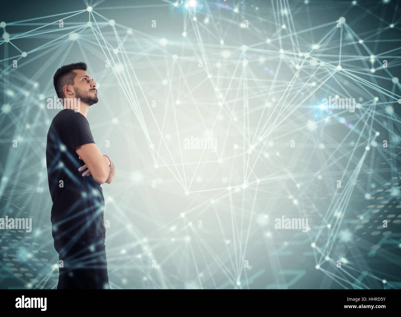 System of interconnection of network - Stock Image