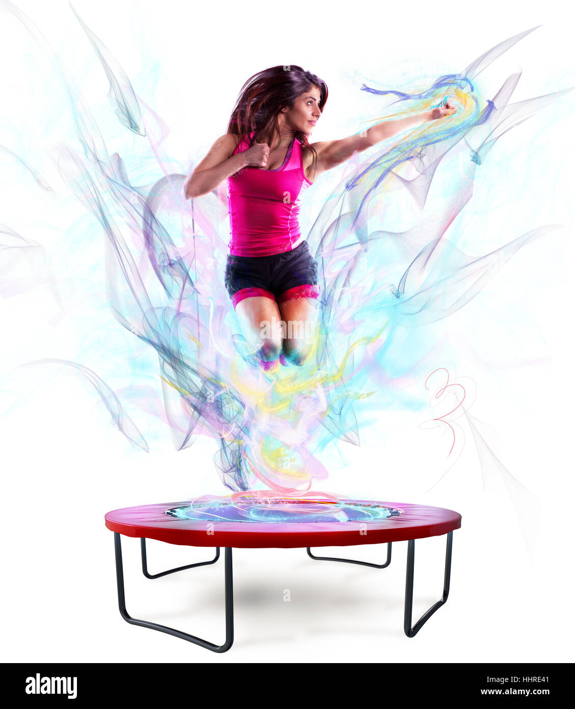 Power jump fitness - Stock Image