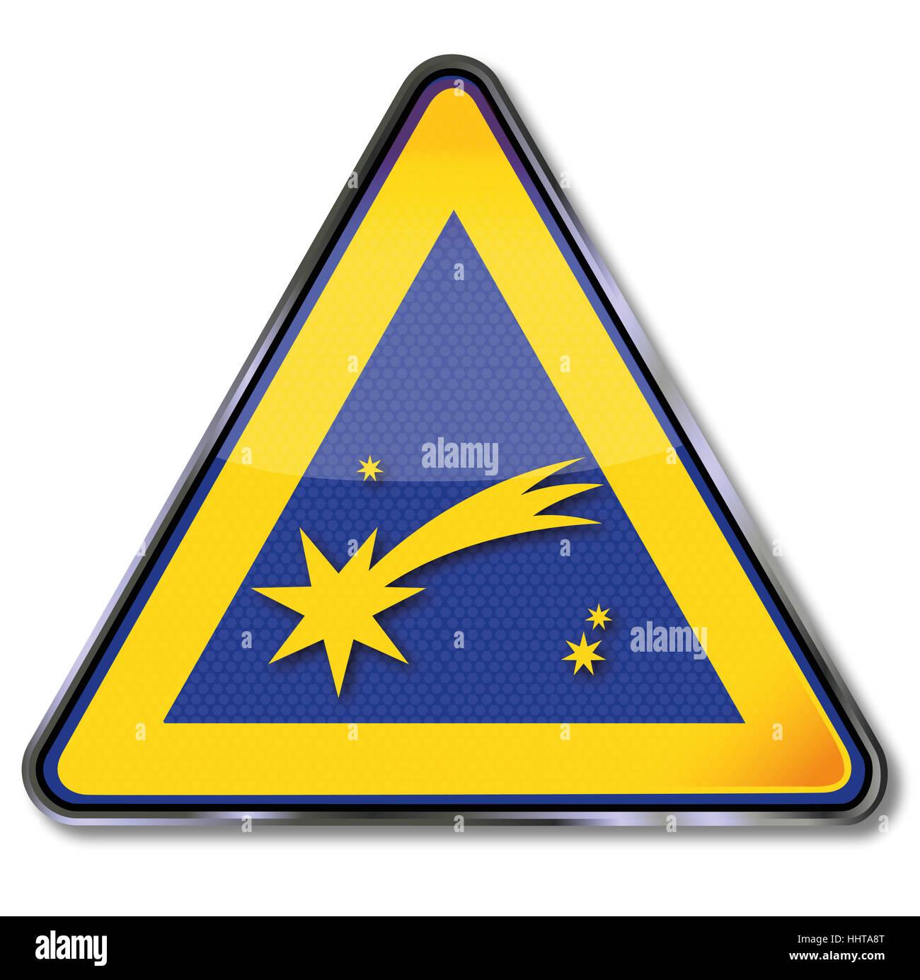 shield comet and christmas - Stock Image