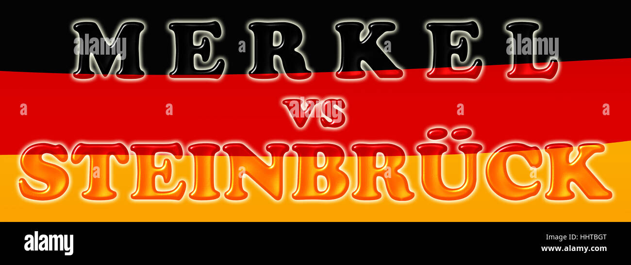 merkel vs steinbrueck Stock Photo