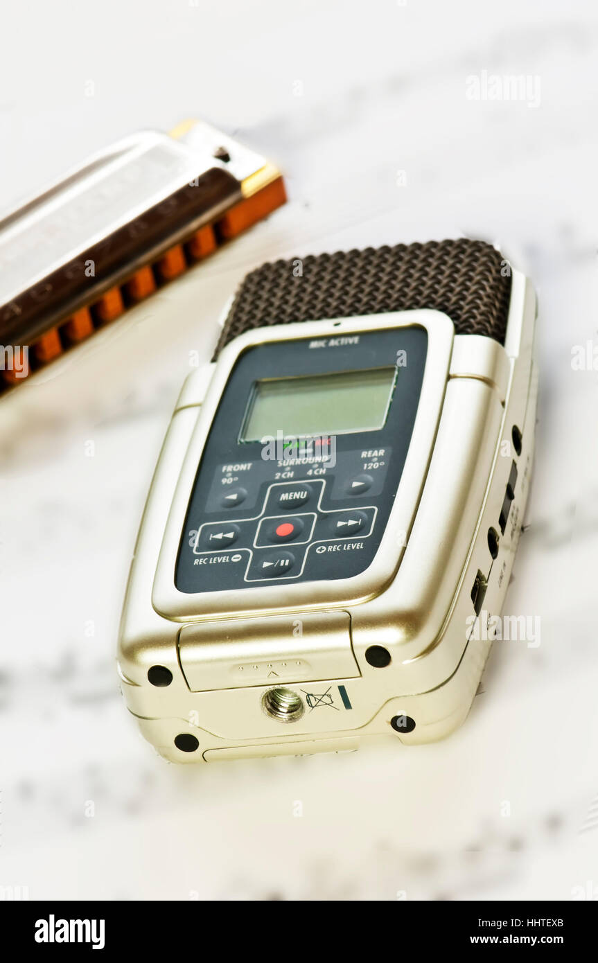 digital recorders Stock Photo