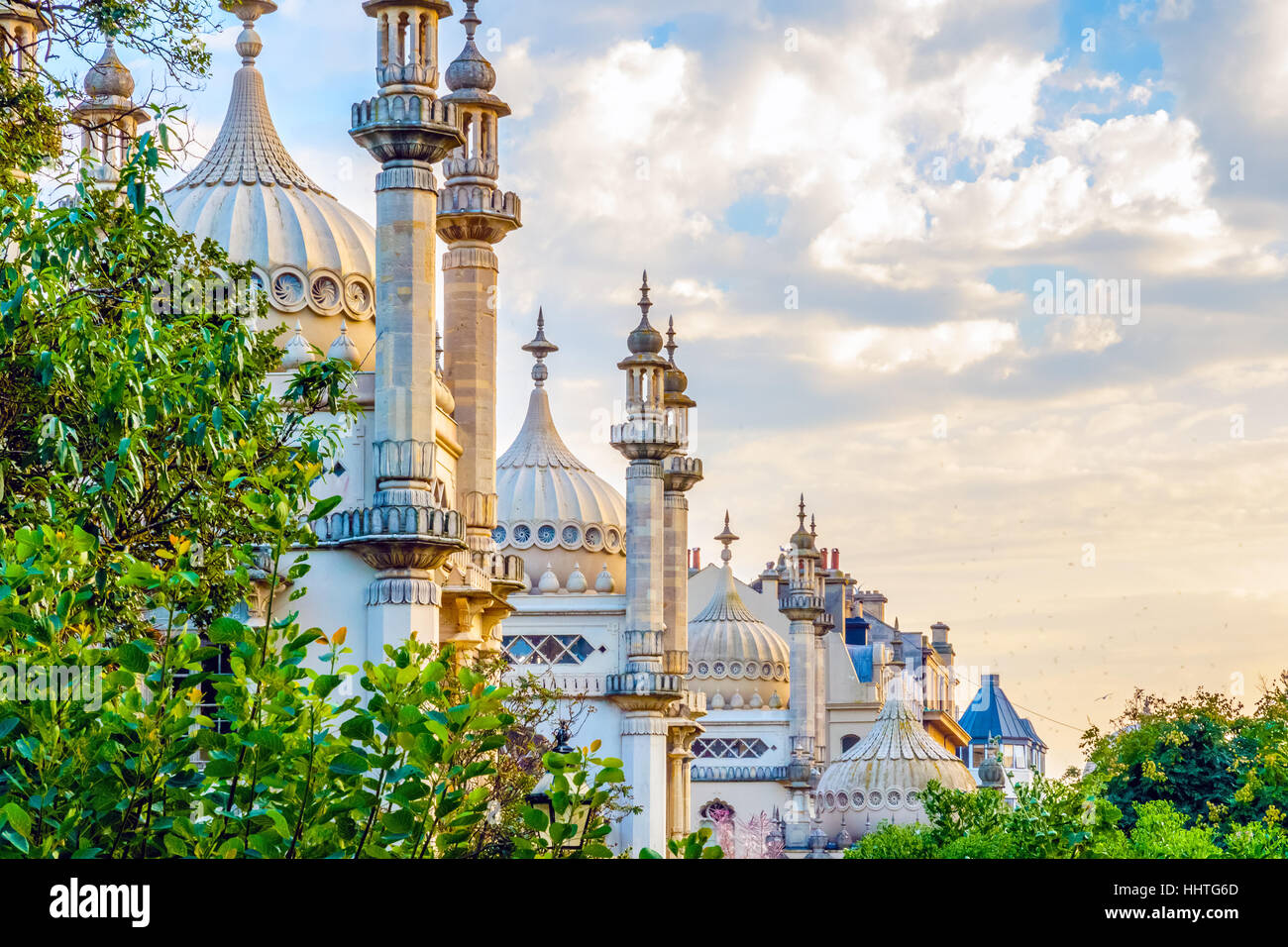 Royal Pavilion in Brighton, England - Stock Image
