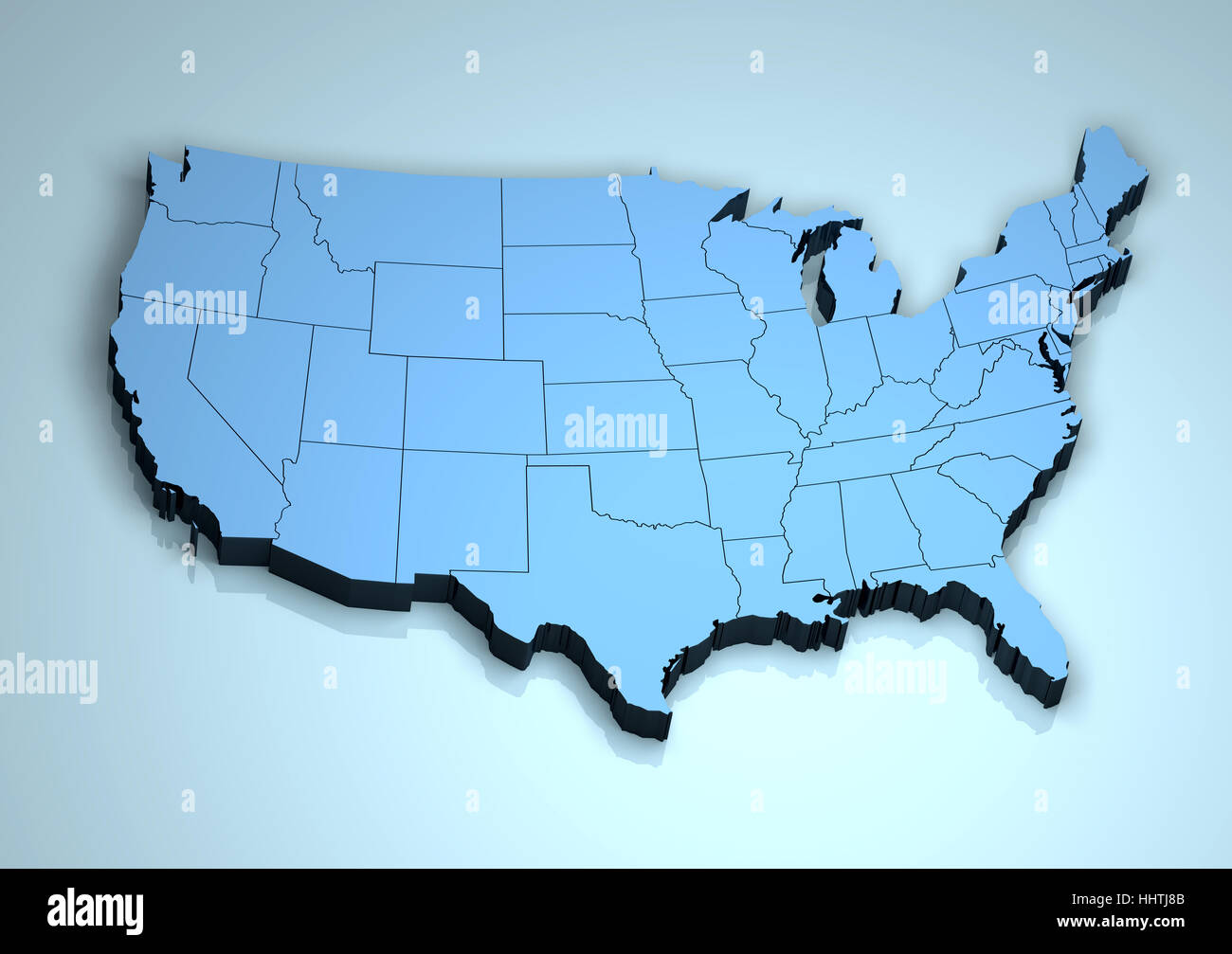 3d Map Of Us.3d Map United States Stock Photos 3d Map United States Stock