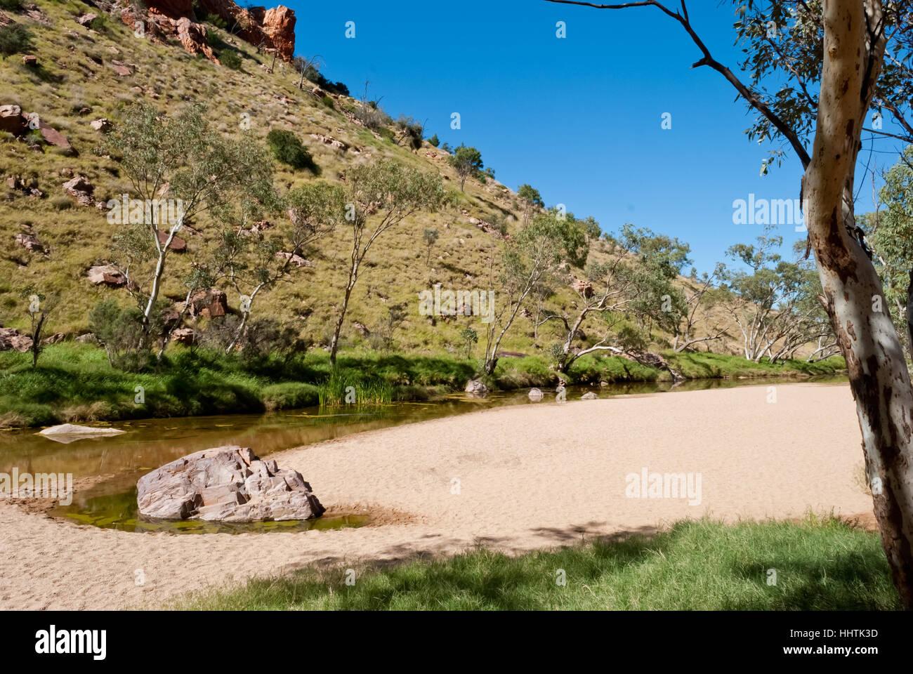 Wild nature at Simpsons Gap, Northern Territory, Australia - Stock Image