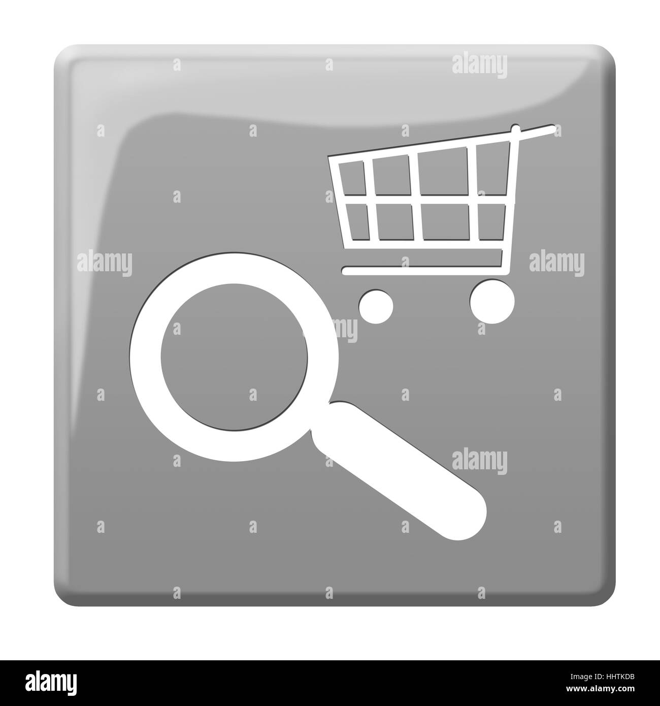 browse cart icon - Stock Image