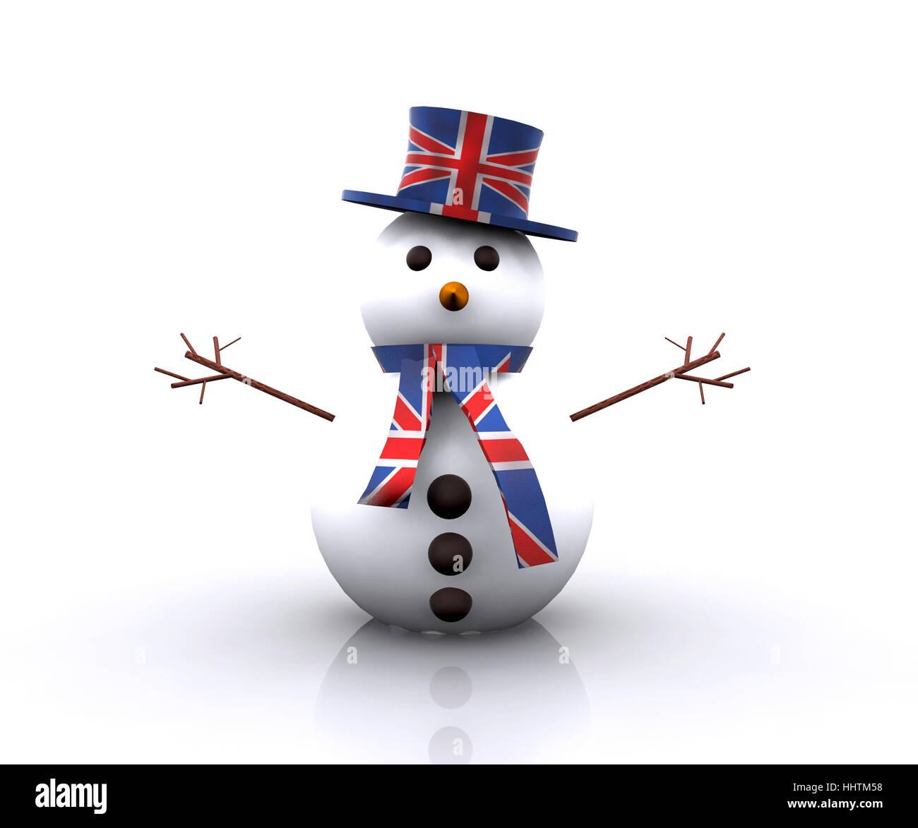 hat, england, britain, snowman, english, dress, gown, salt, game, tournament, - Stock Image