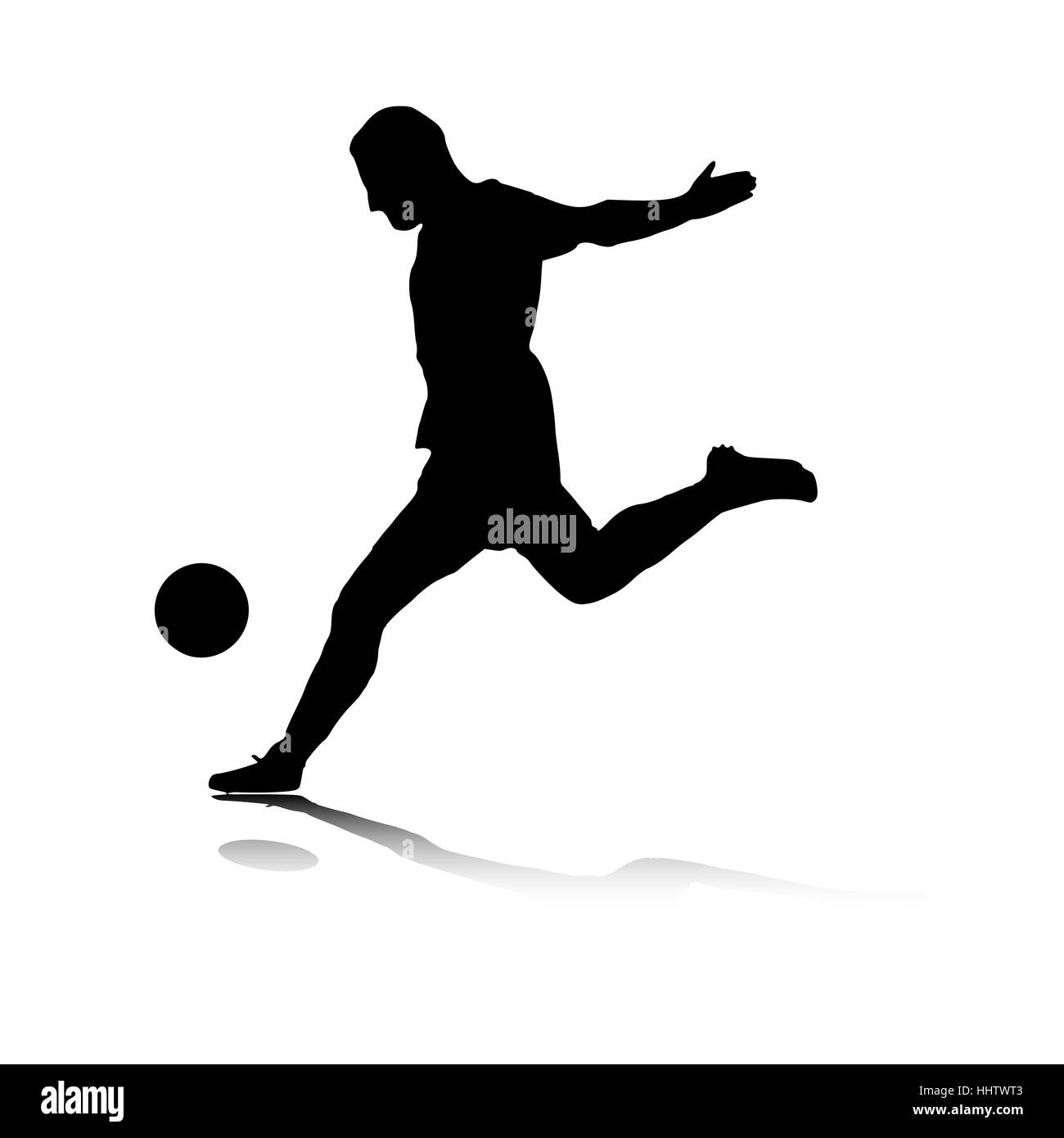 soccer player shot - Stock Image