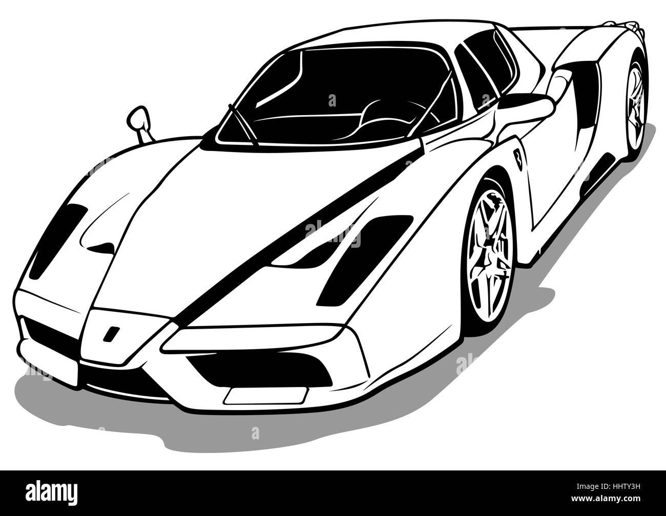 Luxurious Sports Car - Stock Image