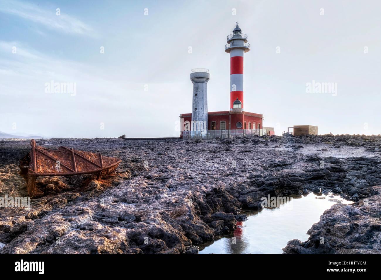 Faro El Cotillo, La Oliva, Fuerteventura, Canary Islands, Spain - Stock Image
