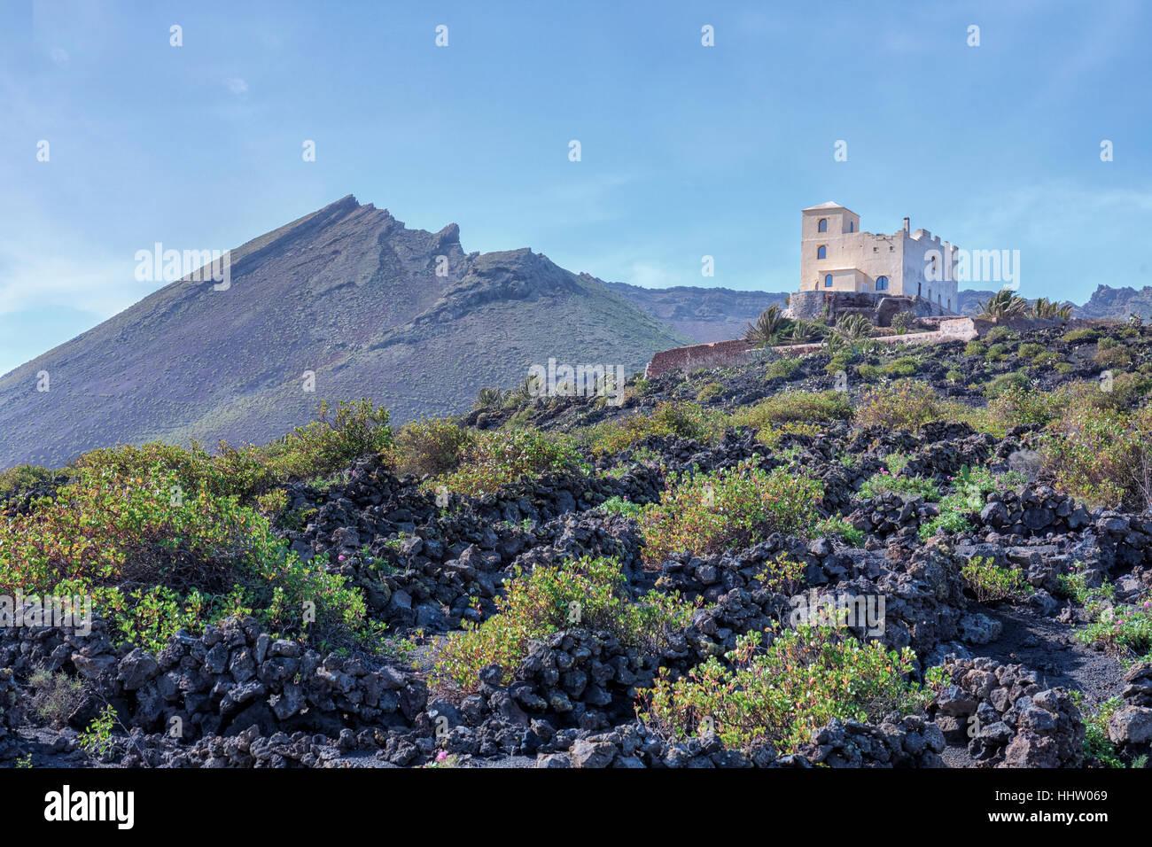 Monto Corona, Haria, Lanzarote, Canary Islands, Spain - Stock Image