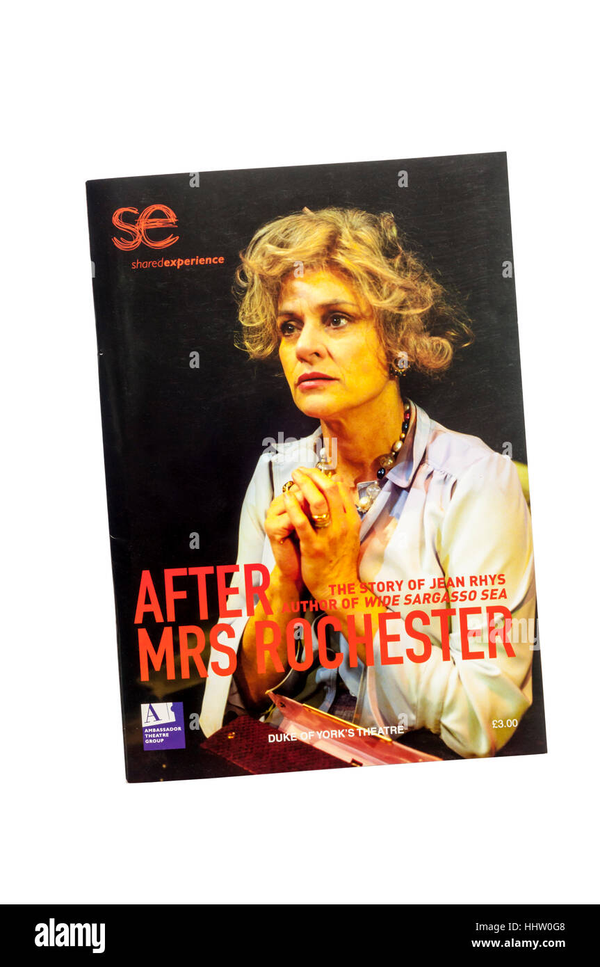 Programme for the 2003 production of After Mrs Rochester by Polly Teale at the Duke of York's Theatre. - Stock Image