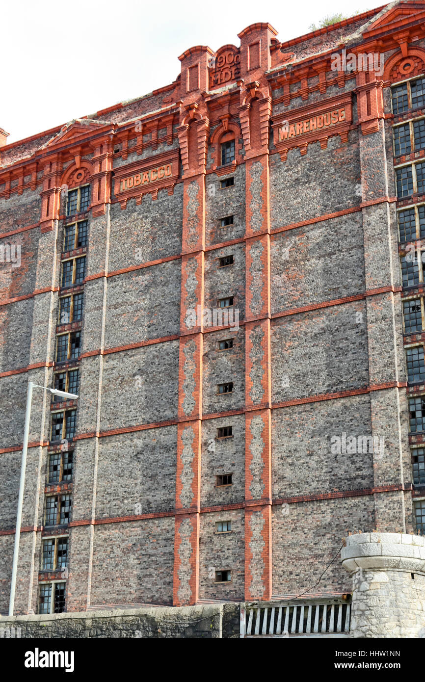 The Stanley Dock Tobacco Warehouse, the worlds largest brick warehouse. Liverpool England Stock Photo