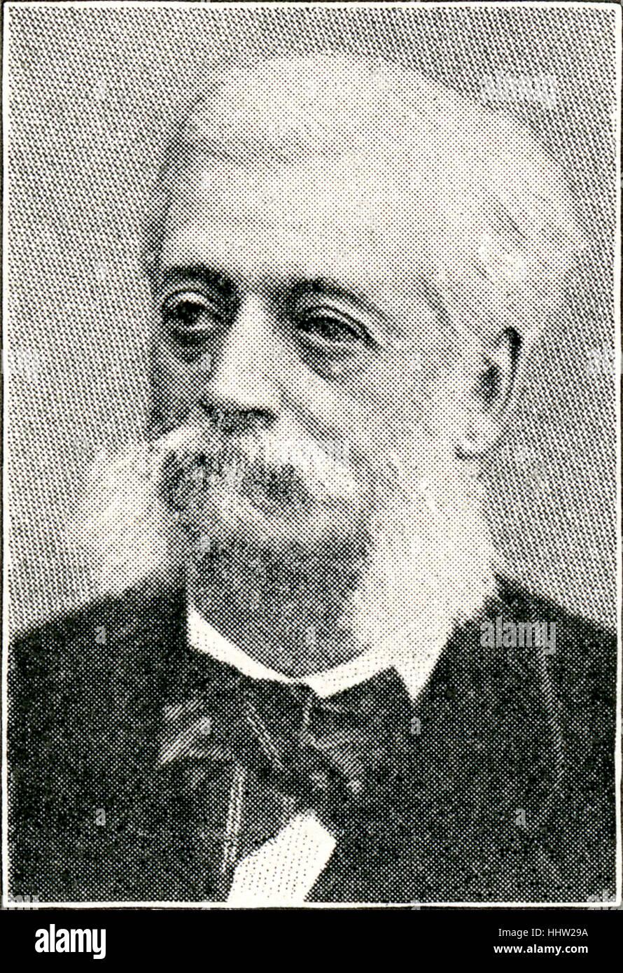 Baron Alphonse de Rothschild, French financier and philanthropist. 1 February 1827 - 26 May 1905. - Stock Image
