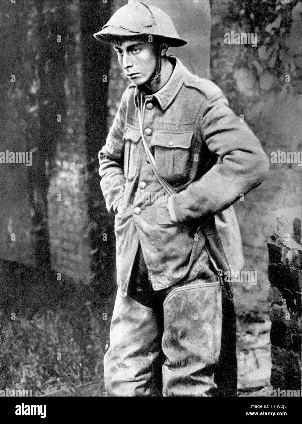 British prisoner of war in a German camp. First World War, 1916 - Stock Image