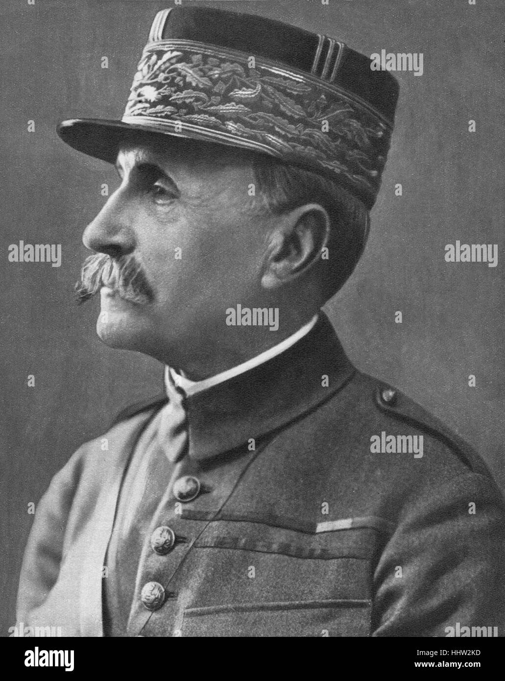 Marshall Ferdinand Foch (2 October 1851 – 20 March 1929) French military general, appointed Commander in Chief / - Stock Image