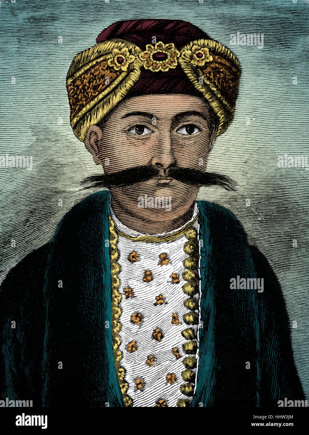 Siraj ud-Daulah (also known as Mîrzâ Muhammad Sirâj-ud-Daulah/ Surajah Dowlah), last independent - Stock Image