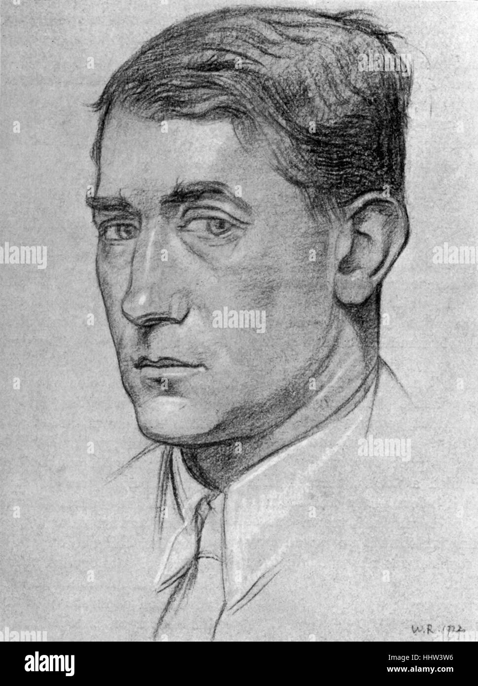 John Collings Squire - c. 1924. British poet, writer, historian, and influential literary editor of the post-World - Stock Image