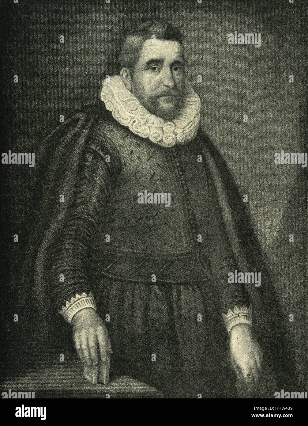 Sir Henry Wotton, portrait. English author, diplomat and politician, 1568 – 1639. - Stock Image