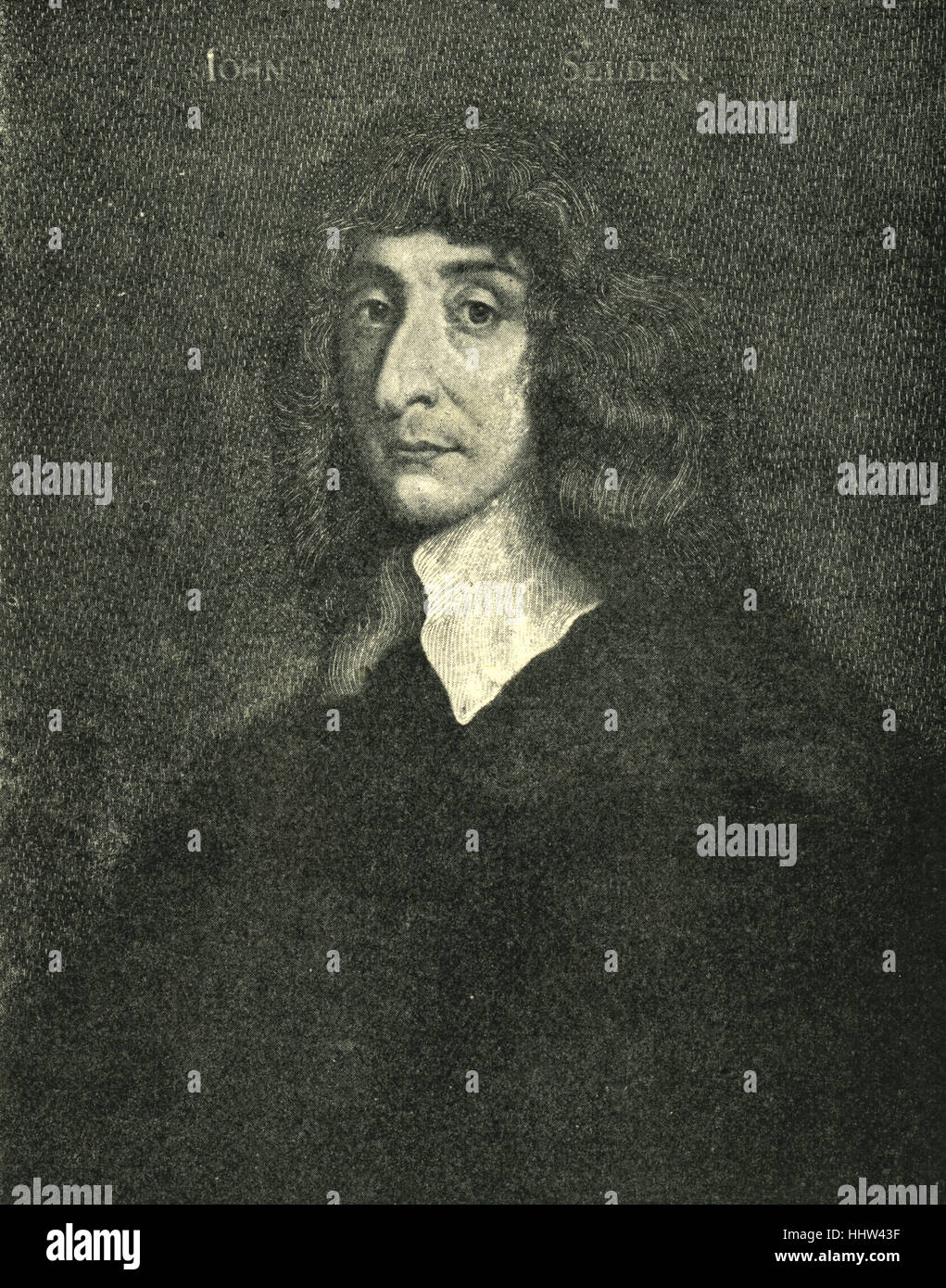 John Selden, portrait. English jurist and scholar of England's ancient laws and constitution and Jewish law, - Stock Image