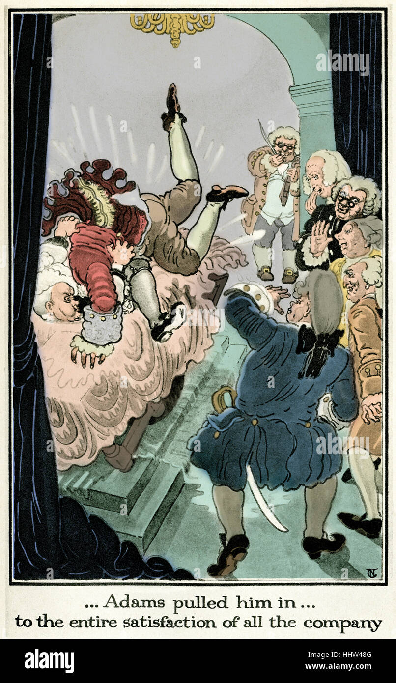 The History of the Adventures of Joseph Andrews and his friend Mr Abraham Adams by Henry Fielding. Illustration - Stock Image