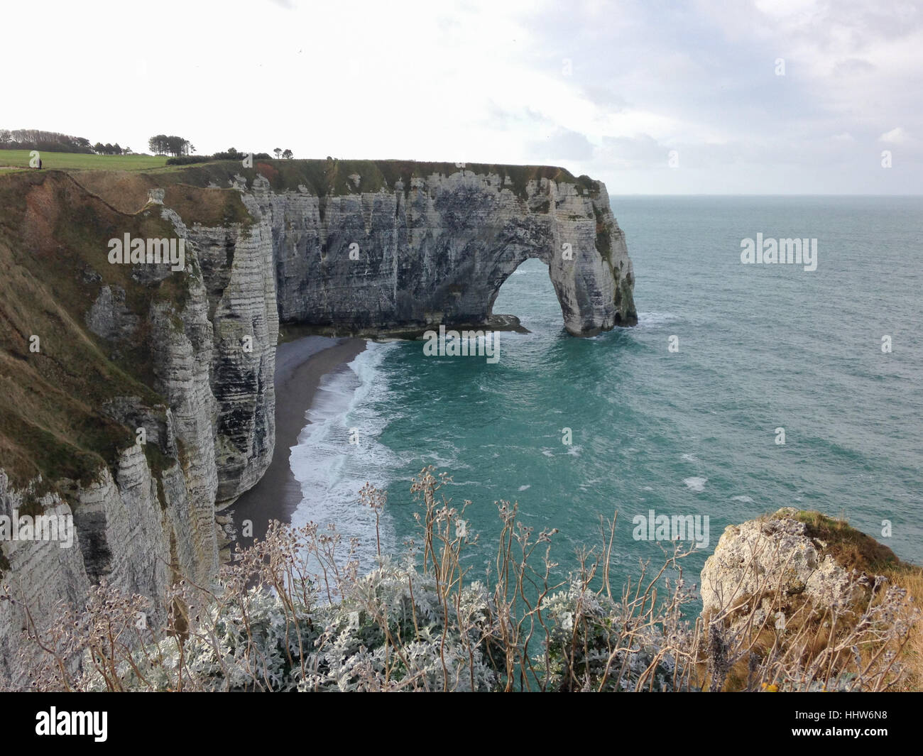 View from the Falaise d'Etretat Stock Photo