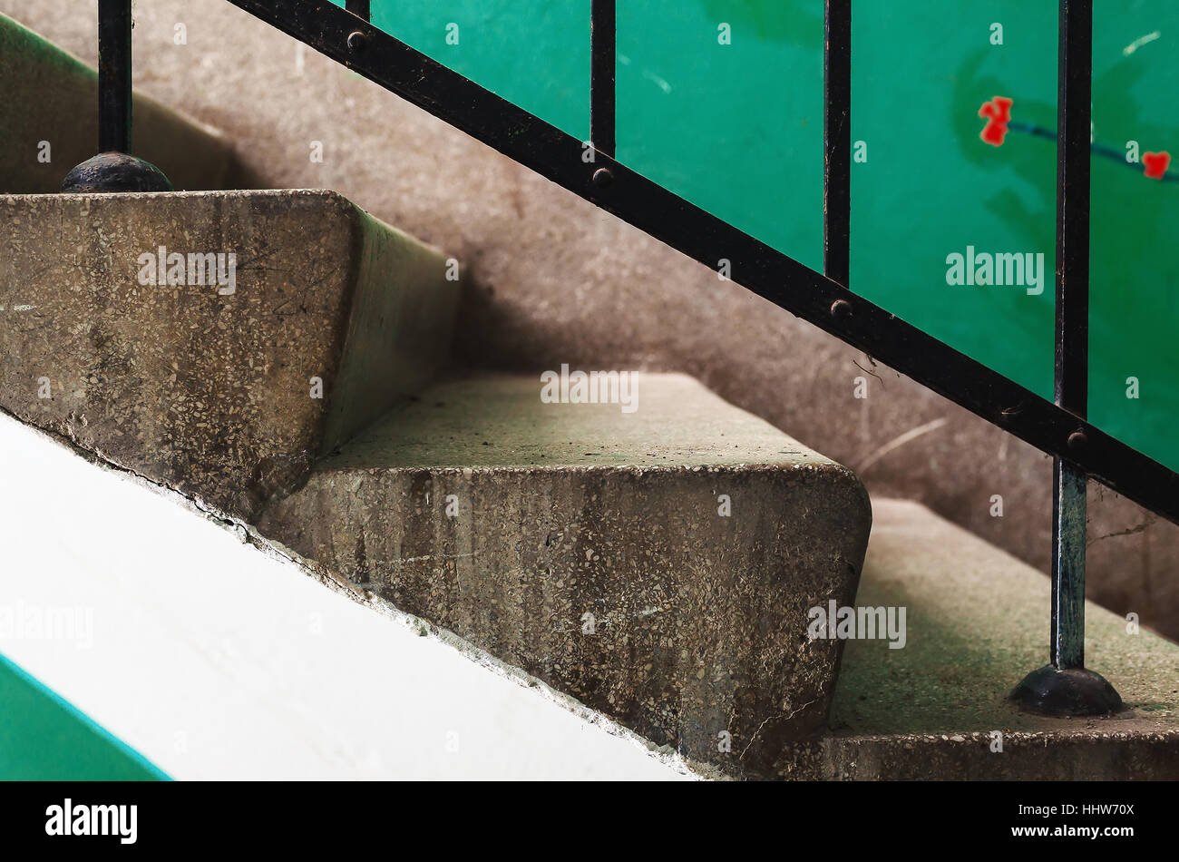Abstract composition of a building hall stairways. - Stock Image
