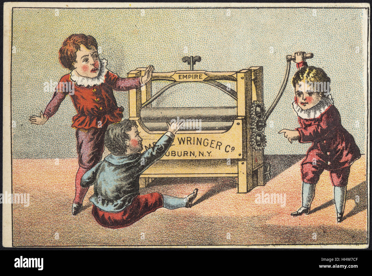 Empire Wringer Co., Auburn, N. Y. [front]  - Laundry Trade Cards - Stock Image